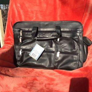 Philippe amiel men's black document bag/ briefcase